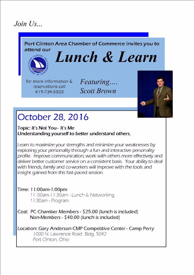 Port Clinton Area Chamber of Commerce Lunch N Learn