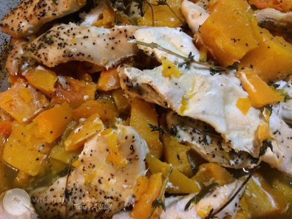 ... Meal, There's a Way - Herb Roasted Chicken and Butternut Squash