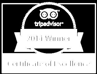 TripAdvisor 2014 Winner Certificate of Excellence