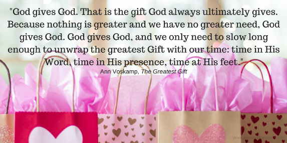 Grace is the Greatest Gift. God gives Himself.