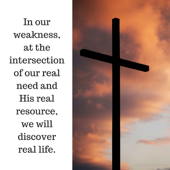 At the intersection of our real need & God