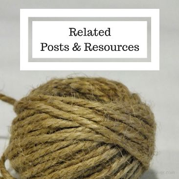Related posts & resources on The Word Weaver blog