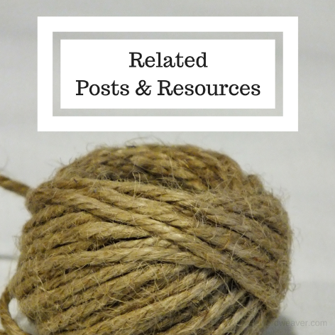 Related Resources in the blog post by The Word Weaver