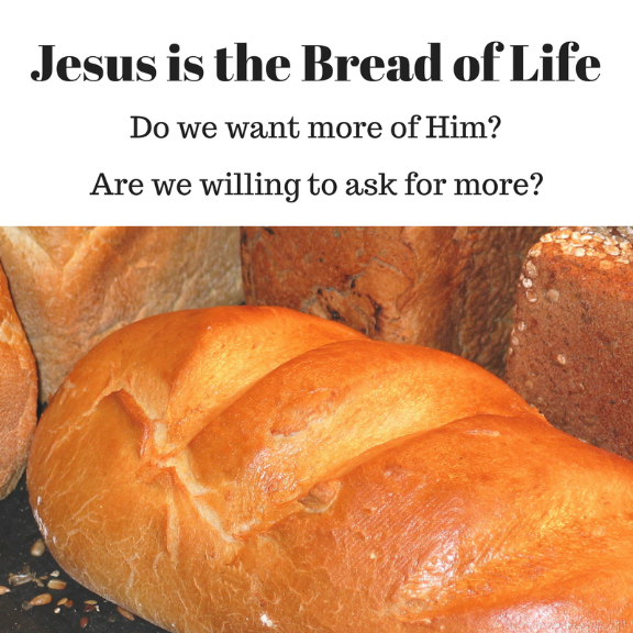Jesus is the Bread of Life/ Do we want More of Him? / Blog post of The Word Weaver
