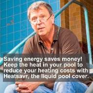 Heatsavr keeps the heat in your pool so that you can save money and energy