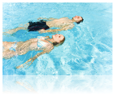 Use liquid pool covers even while swimming pool is in use!