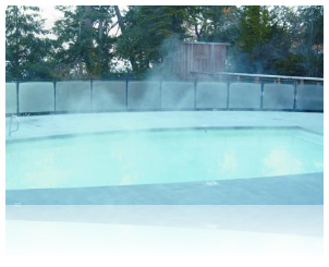 Liquid pool covers will reform to cover a pool even in windy conditions