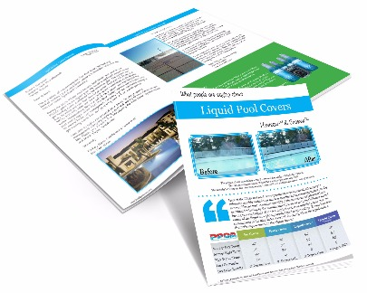 Liquid Pool Covers - Customers Testimonials Booklet Cover