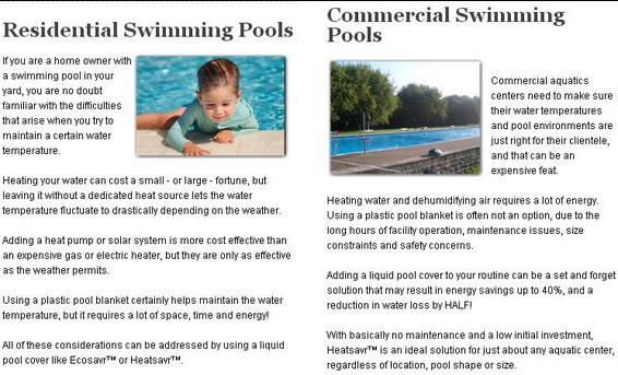 Residential or Commericial Swimming Pools - link to Our Customers page