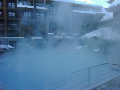 outdoor pool experiencing a lot of evaporation