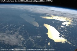 Great Lakes in SunGlint photo from NASA
