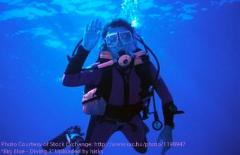 Scuba Diver Waving