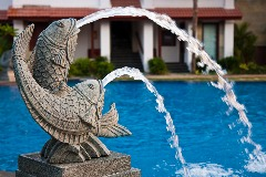 swimming pool water feature fountain water loss