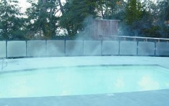 before and after heatsavr liquid pool cover