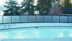 before and after heatsavr solar liquid pool cover