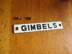 Gimbels Sewing Machine Badge