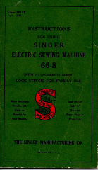 Singer 66-8 Sewing Machine PDF Manual