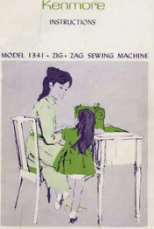 Kenmore Model 1341 Sewing Machine (158.13410) PDF Manual