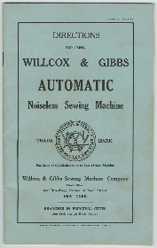 Willcox & Gibbs Sewing Machine PDF Manual
