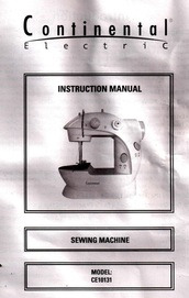 Continental Electric Sewing Machine CE 10131 PDF Manual