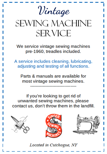 Vintage Sewing Machine Service and Repair