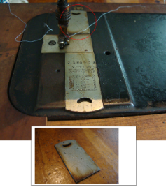 Pathfinder Sewing Machine BACK Slide Plate