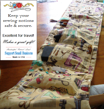 Sewing Notions Roll Up Storage Case