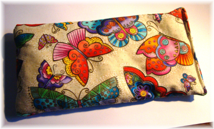 Lavender Herbal Eye Pillow Butterflies