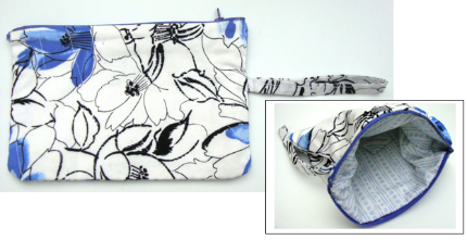 wristlet blue and wht