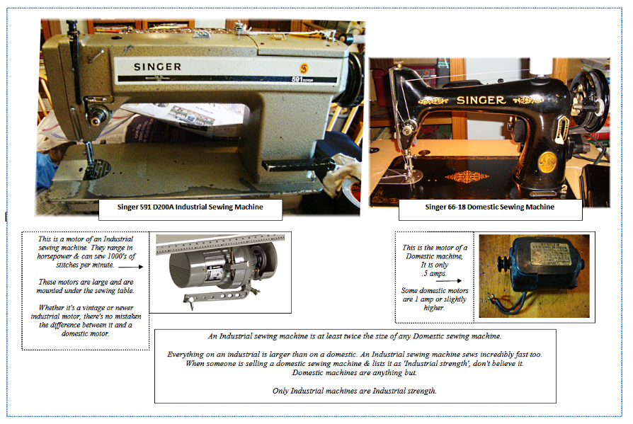 Domestic VS Industrial Sewing Machine