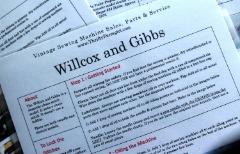 Willcox & Gibbs Sewing Machine Flash Card
