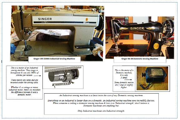 The differences between Industrial vs Domestic Sewing Machines