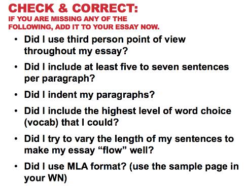 third grade essay format