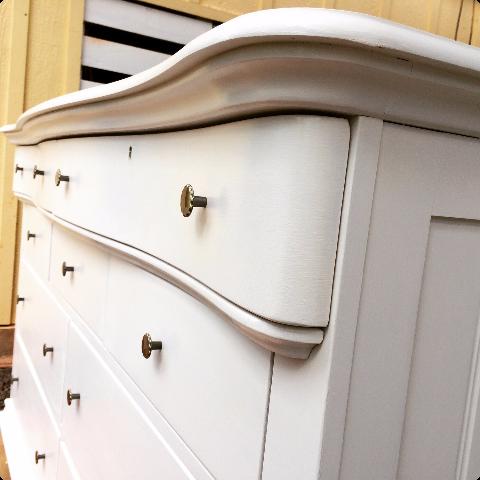 Closeup of the remodel dresser
