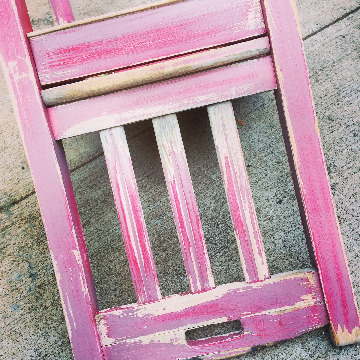 Vintage Magenta Pottery Barn Chair with Miss Mustard Seed Milk Paint