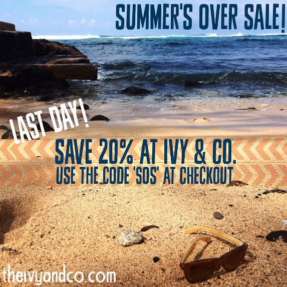End of Summer Playlist and Sale SOS