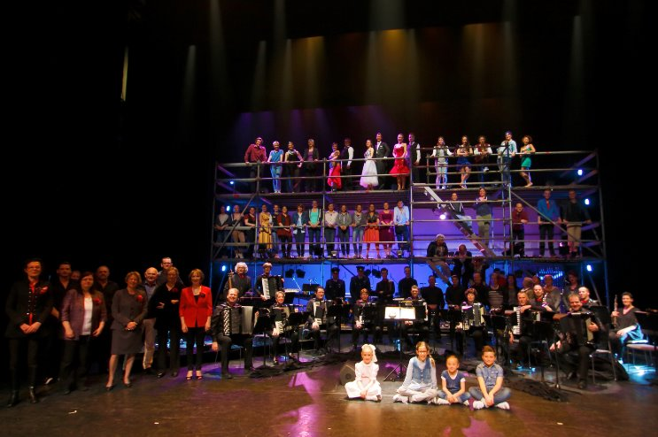 Cast van West Side Story in Concert 2014