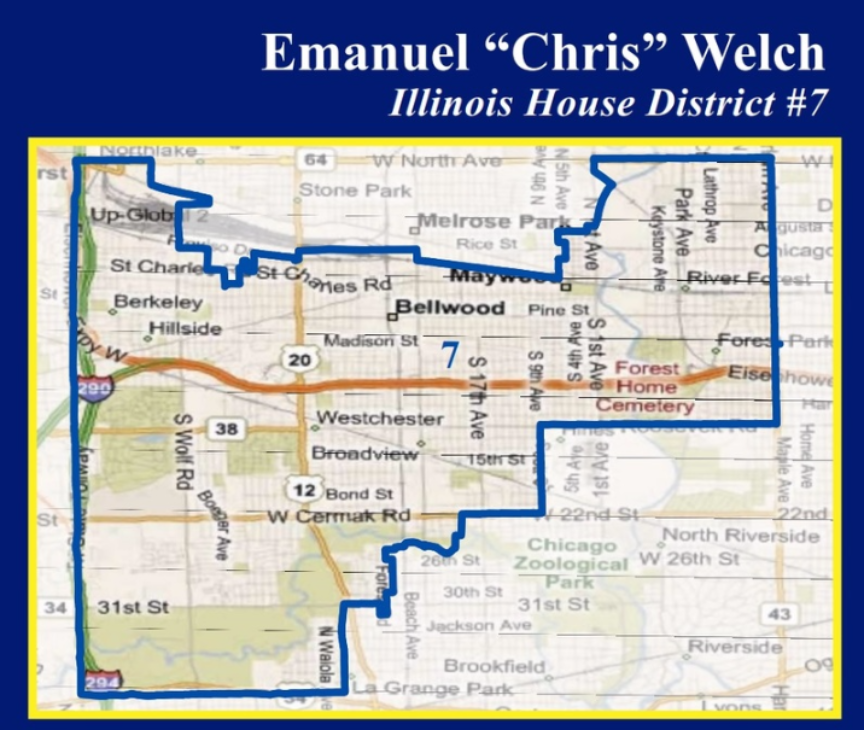 State Representative Emanuel Chris Welch Th District Map - Us house of representatives illinois district map