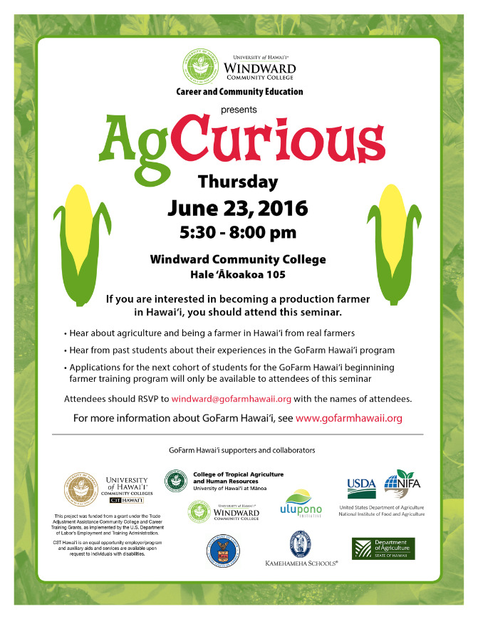 AgCurious June 23, 2016 flyer.