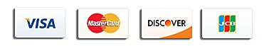 VISA, MasterCard, Discover and JCB card icons