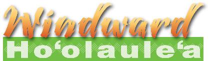 Windward Hoolaulea logoin orange and green.