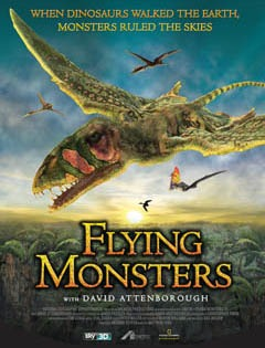 Several fly ing prehistoric green monsters flying over a jungle. at sunset.