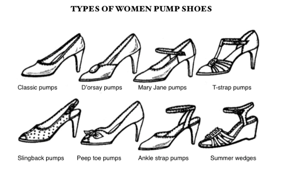 TYPES OF WOMEN PUMP SHOES