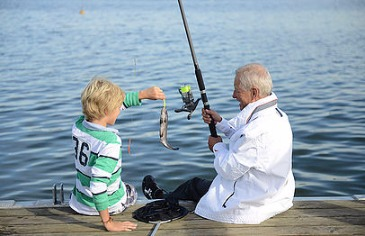 Grandparent and Grandchild Fishing
