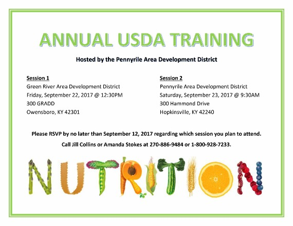 Annual USDA Training