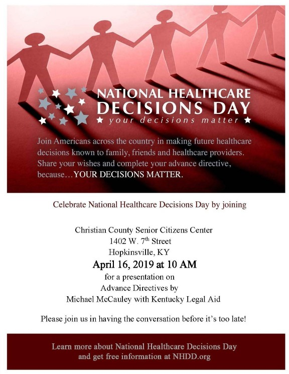 Celebrate National Healthcare Decisions Day Flyer