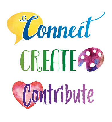 Connect Create Contribute Image