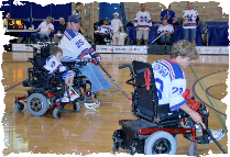 #25 Marty Witberg, #19 Anthony Nelson & #23 Kevin Konfara of the Michigan Mustangs
