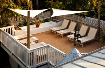 photo of private sun deck at alexanders guesthouse