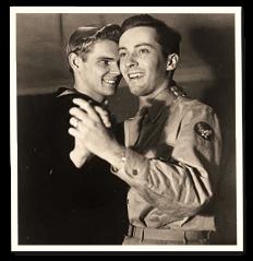 vintage photograph of two men dancing